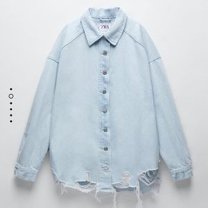 Ripped denim shirt